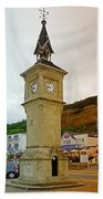 The Clock Tower At Shanklin Beach Towel