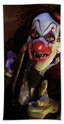 The Clown Beach Towel by Mary Hood