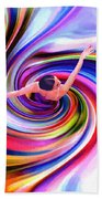 The Colorful Ballet Dress Beach Towel