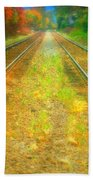 The Colour Along The Tracks Beach Towel