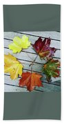 The Colours Of Autumn Beach Towel
