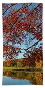 The Comfort Of Autumn Beach Towel
