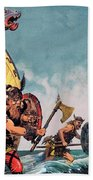 The Coming Of The Vikings Beach Towel