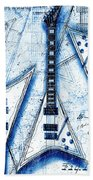 The Concorde Blueprint Beach Towel