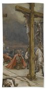 The Confession Of Saint Longinus Beach Towel by Tissot