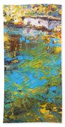 The Cottage By The Lagoon Beach Towel