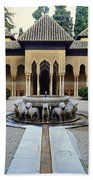 The Court Of The Lions Alhambra Spain Beach Towel