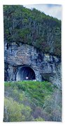 The Craggy Pinnacle Tunnel On The Blue Ridge Parkway In North Ca Beach Towel