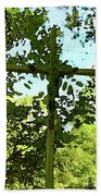 The Cross In Nature Beach Towel