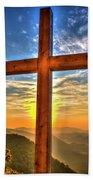 The Cross The Choice Pretty Place Chapel Greenville South Carolina Art Beach Towel