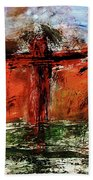 The Crucifixion #1 Beach Towel by Michael Lucarelli