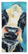 The Curious Cow Beach Towel