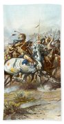 The Custer Fight Beach Towel