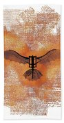 The Da Vinci Flying Machine Beach Towel