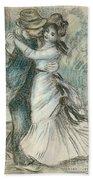 The Dance Beach Towel by Pierre Auguste Renoir