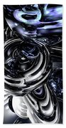 The Darkside Abstract Beach Towel