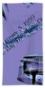 The Day The Music Died - Feb 3 1959 Beach Sheet