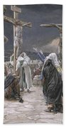 The Death Of Jesus Beach Towel by Tissot