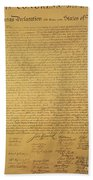 The Declaration Of Independence Beach Sheet