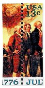 The Declaration Of Independence  Beach Towel by Lanjee Chee