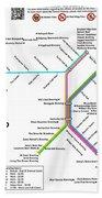 The Denver Pubway Map Beach Sheet