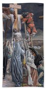 The Descent From The Cross Beach Towel by Tissot