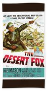 The Desert Fox  James Mason Theatrical Poster Number 3 1951 Color Added 2016 Beach Towel