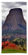 The Devils Tower Wy Beach Towel