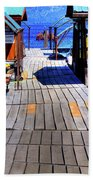 The Dock At Hill's Resort Beach Towel
