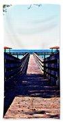 The Dock At Lake George  Beach Towel