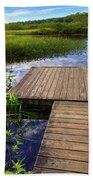 The Dock At Mountainman Beach Towel