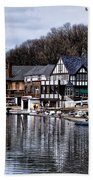 The Docks At Boathouse Row - Philadelphia Beach Towel