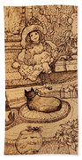 The Doll, The Kitties And The Gingerbread Boy Beach Towel