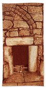 The Door Of Humility At The Church Of The Nativity Bethlehem Beach Towel