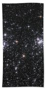 The Double Cluster, Ngc 884 And Ngc 869 Beach Towel