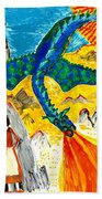 The Dragon Beach Towel by Sushila Burgess