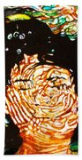The Drowning Artist Beach Towel