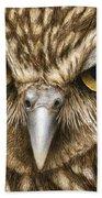 The Dubious Owl Beach Towel