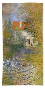 The Duck Pond Beach Towel by Claude Monet