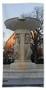 The Dupont Circle Fountain Without Water Beach Towel