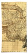 The Eagle Map Of The United States  Beach Towel