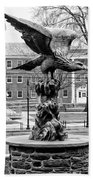 The Eagle - Widener University In Black And White Beach Towel