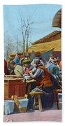 The East Market, Peking, Ca 1921 Beach Towel