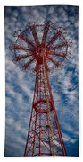 The Eiffel Tower Of Brooklyn Beach Towel