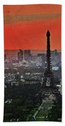 The Eiffel Tower Beach Sheet