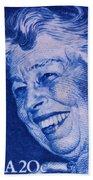 The Eleanor Roosevelt Stamp Beach Towel