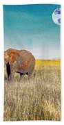 The Elephant Herd Beach Towel
