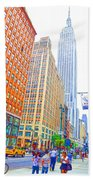 The Empire State Building 3 Beach Towel