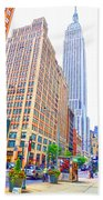 The Empire State Building 5 Beach Towel