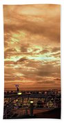 The End Of A Beautiful Day Beach Towel